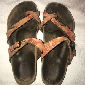 Birkenstock Shoes - Birkenstock Papillio peach/orange design sandals